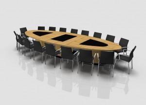 rendering met stoelen